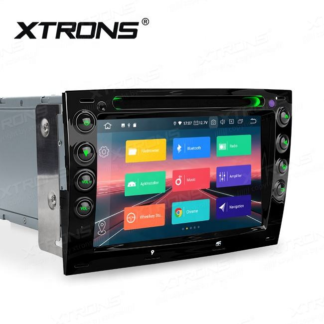 XTRONS Android 9.0 2 din som do carro para Renault megane com DVD/Bluetooth, rádio poste voiture