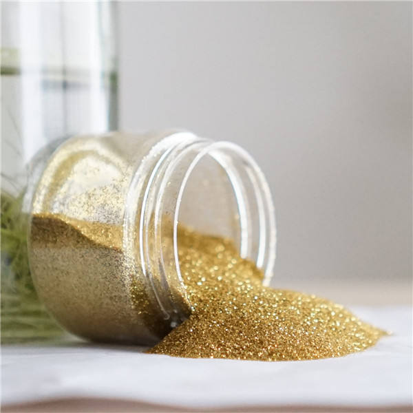 Wholesales low price non-toxic gold glitter flakes