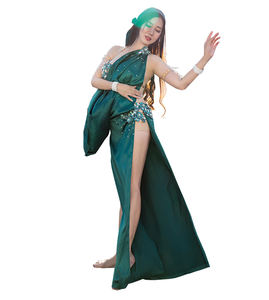 QC3017 Wuchieal Professional Egyptian Baladi Saidi Belly Dance Costume