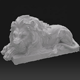 Professional nature custom lion modern abstract stone sculpture