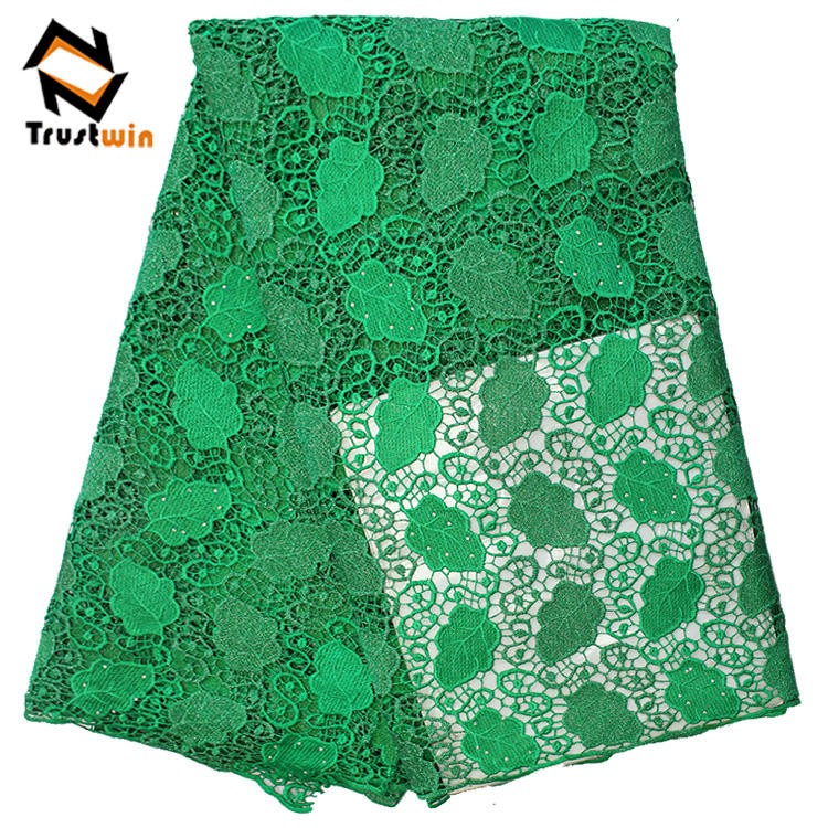 african wedding chemical lace wedding fabric with stones