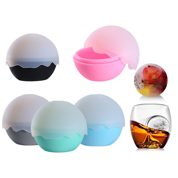 Amazon 2019 High Design Flexible Silicone Ice Cube Cocktail Whisky Bourbon Pudding Chocolate Ice Cube Trays Mold