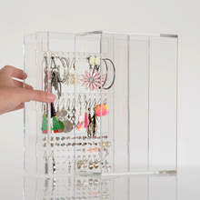 Transparent Acrylic Earring Jewellery Holder Display Shelf Storage Box