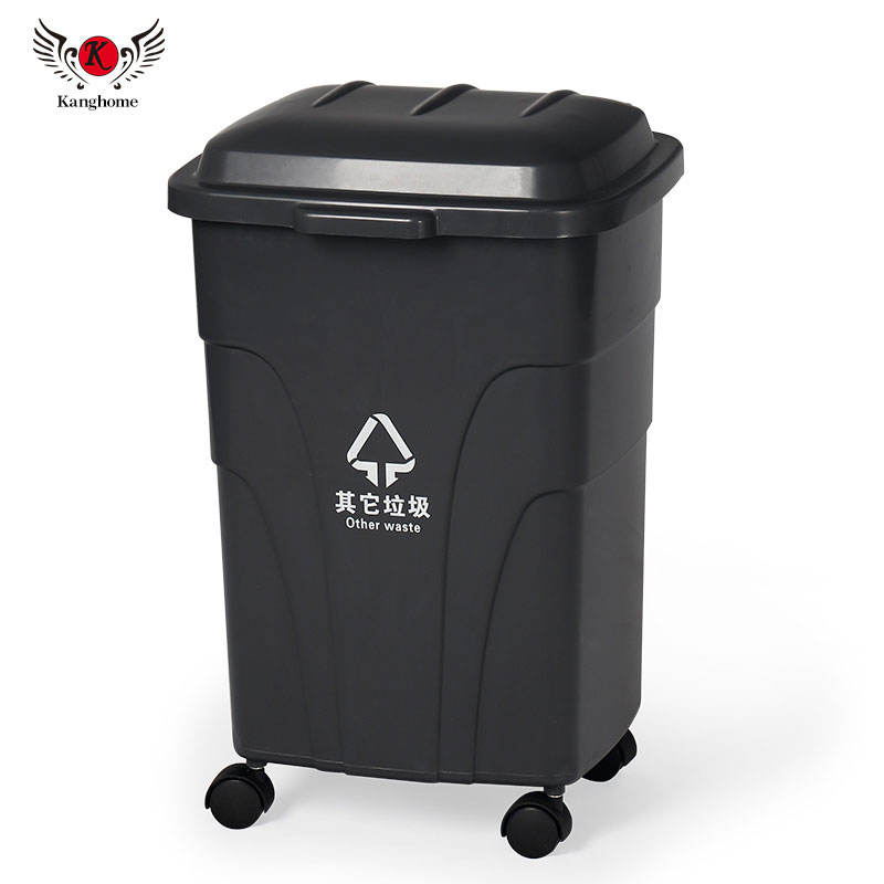 2 x Large 70L Litre BLACK Plastic Bin Rubbish Waste Dustbin Animal Feed Storage