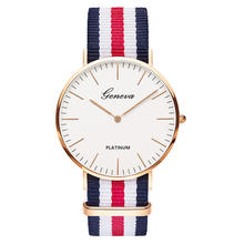 China Wholesale Alibaba ODM Wristwatch Custom Logo Dial OEM Watches Knitted Canvas Nylon Strap Unisex Quartz Watch