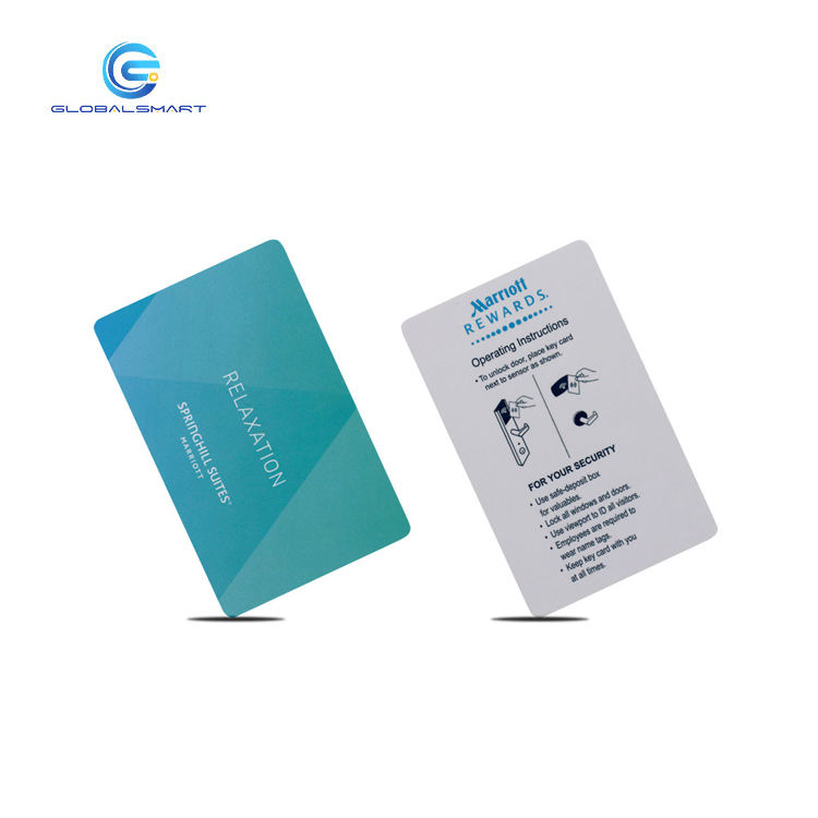 PVC RFID 호텔 키 Card SafLok MF Classic 1 K Card