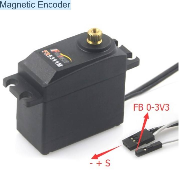 FEETECH Metal Gears Continuous Rotation 360 Degree Analog Feedback Servo with Magnetic Encoder