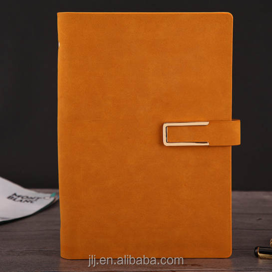 2018 latest leather notebook with student