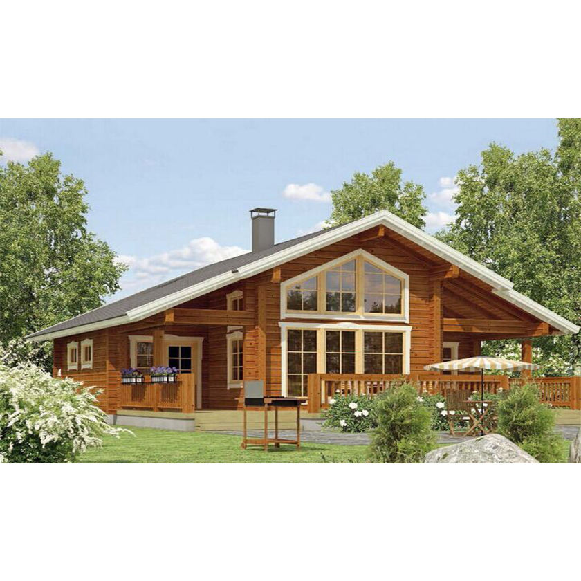 High quality prefab wooden houses kit log homes kit homes prefabricated wooden villa for sale