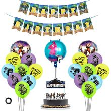 Video Game Party Favors Happy Birthday Banner Foil And Latex Balloons Video Game Cake Topper Birthday Party Decorations Supplies