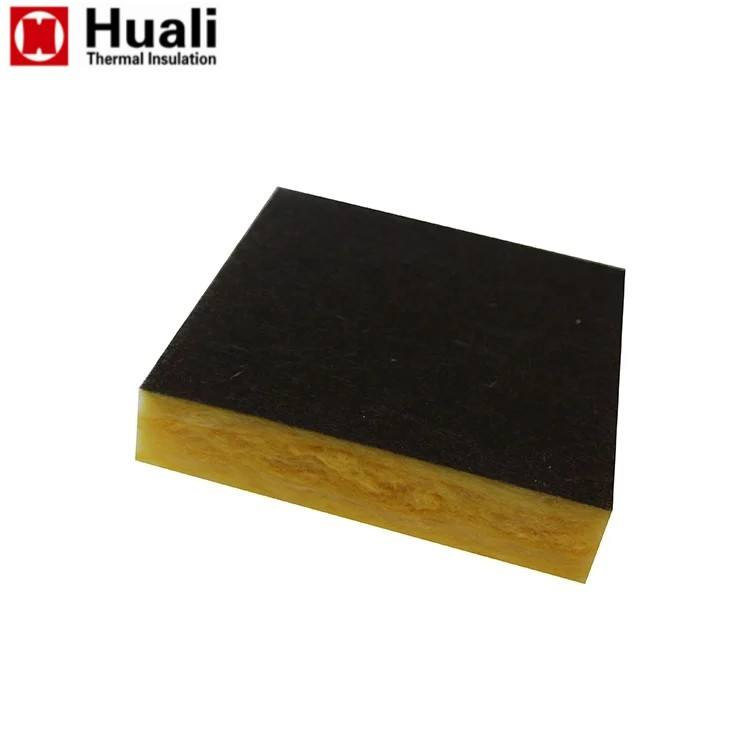 vinyl faced fiberglass insulation slab glass wool board blanket for sound absorption