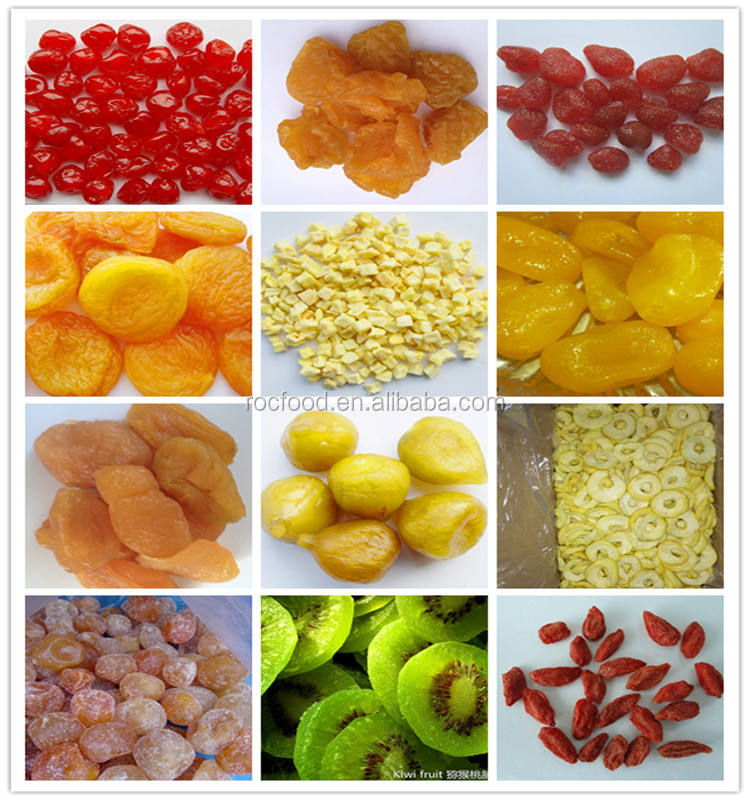 new crop dried fruits preserved pear/PEACH/kiwi/cherry/strawberry/DRIED APRICOT