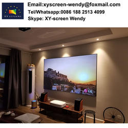 XY Screen 120inch Ambient Light PET Crystal Ultra short throw projector screen