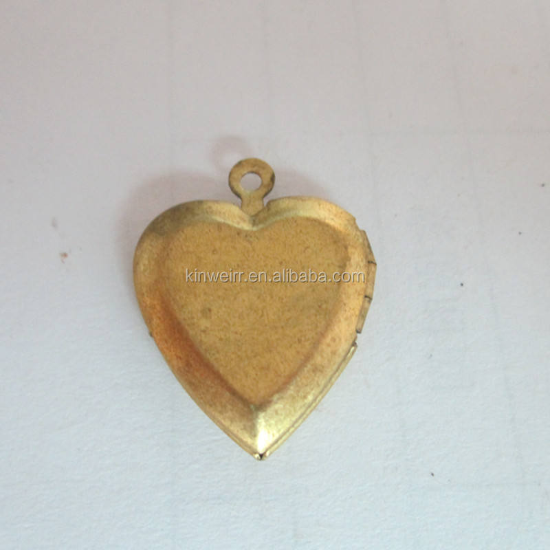 Brass locket photo Pendants heart shape locket pendant for necklace