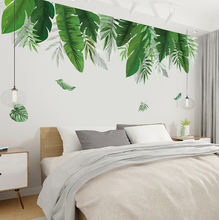 Promotional Sticker new design green leaf vinyl Reusable wall sticker for Room Home Decoration Mural Room Decal