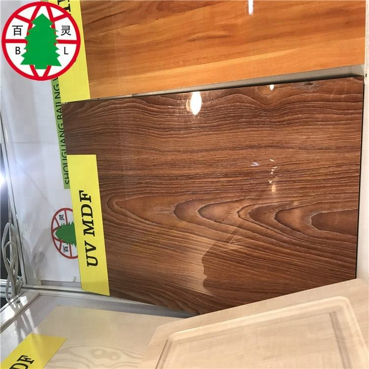1220*2440*18 mm UV painting high glossy MDF board for interior decoration