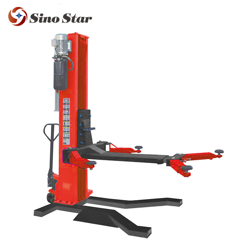 Electrical Single column car lift price / home garage movable hydraulic one post car hoist by Sino Star(SS-6125E)