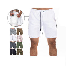 custom man sweat sports shorts running compression gym sweat athletic shorts
