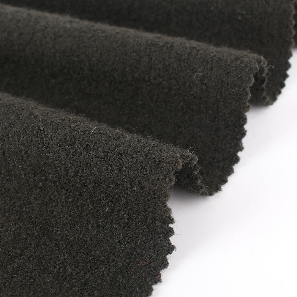 Hot selling sweater pile wool viscose knitted fabric for shirts