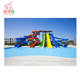 water theme park equipment commercial kids adult big fiberglass plastic water slide for sale