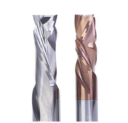 Weix high quality cnc machine cad cam lathe sharpening 2 flutes compression tungsten carbide end milling cutter with coating