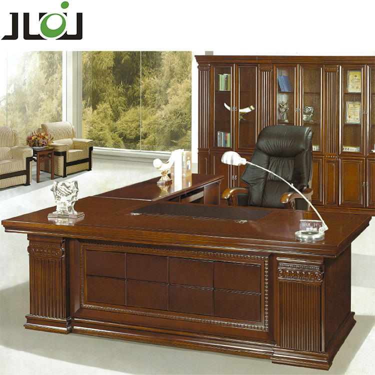 Modern mdf painting l shaped boss ceo manager desk executive wooden office table for office furniture