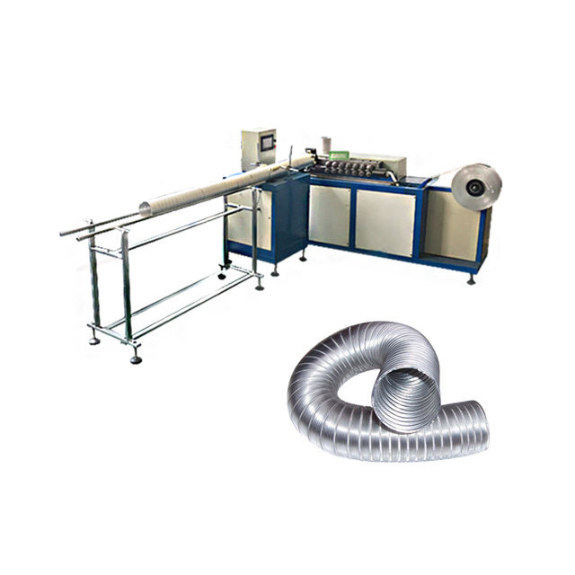 flexible aluminum air duct forming machine chimney pipe machine