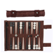 Wholesale Roll-Up Suede Backgammon Game for Leisure Time