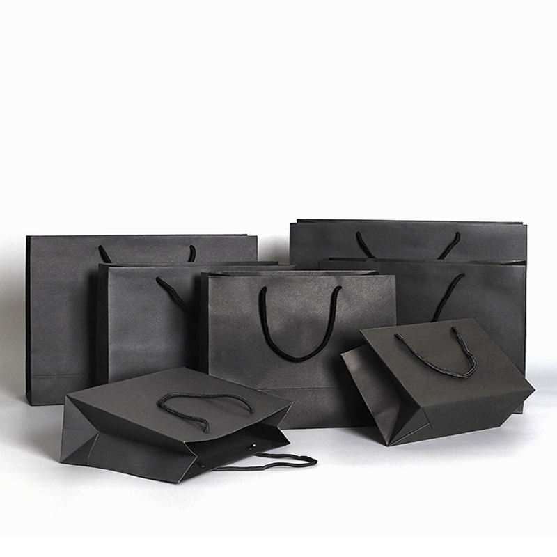 Glossy Embossing Hot Stamping Logo Mini Luxury Paper Bags