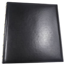 PU leather covered  Spine foilprinted bound pu universal photo album