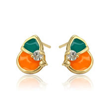 97725 xuping colored artificial gemstone stud earing, aretes circones de mujer
