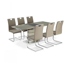 Modern MDF Extending Dinning Room Set Extendable 6/8 Seat Dining Table with Chairs