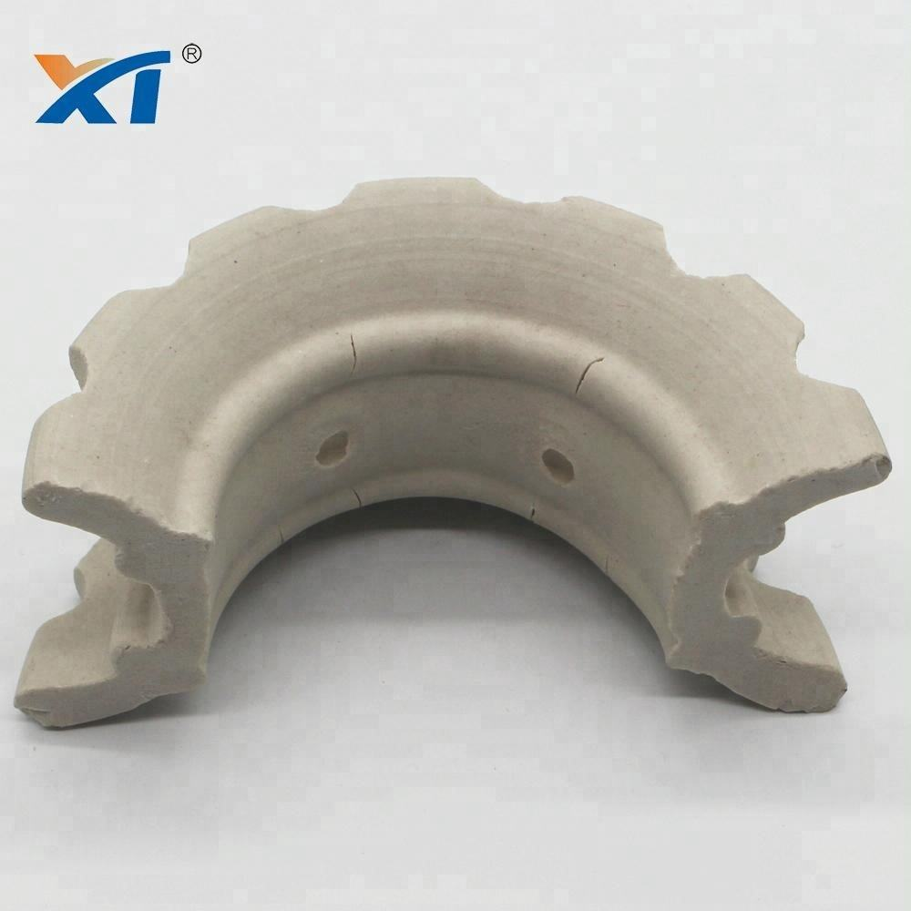 Ceramic super intalox saddles with Al2O3 17~23%, 23%~30% for RTO