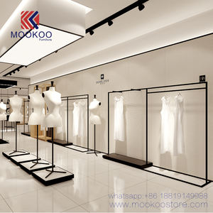 Customized Clothes Shop Racks Hanging Clothing Shop Interior Design