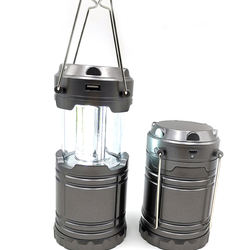 USB Rechargeable and Solar Portable LED COB Camping Lantern