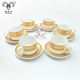 High quality porcelain 6 sets coffee cup and saucer set