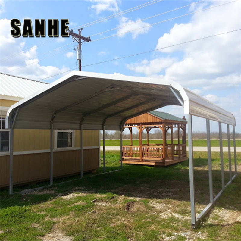 Prefab Custom portable metal carport and garage with storage for motorcycle / car / Boat RV Cover