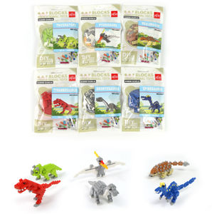YIRUN kids plastic mini bricks building blocks 3D jurassic world dinosaur building blocks free samples