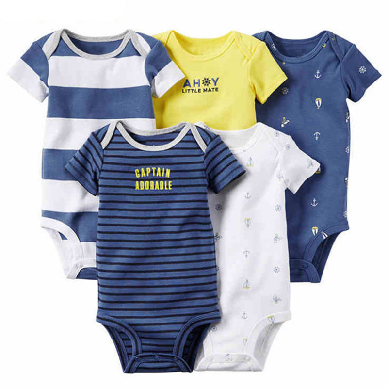 2018 newborn knitted 5-piece cute baby clothing set wholesale