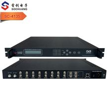 DVB-S/S2 FTA tuner to qam modulator for cable tv Cable tv headend 8 FTA tuners DVB-C qam to ip converter gateway