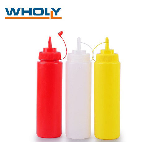 8oz, 12oz ,16oz, 24oz, 36oz 200ml 500ml bpa free with Screw Cap clear Plastic Ketchup Sauce Soy honey Squeeze Bottles