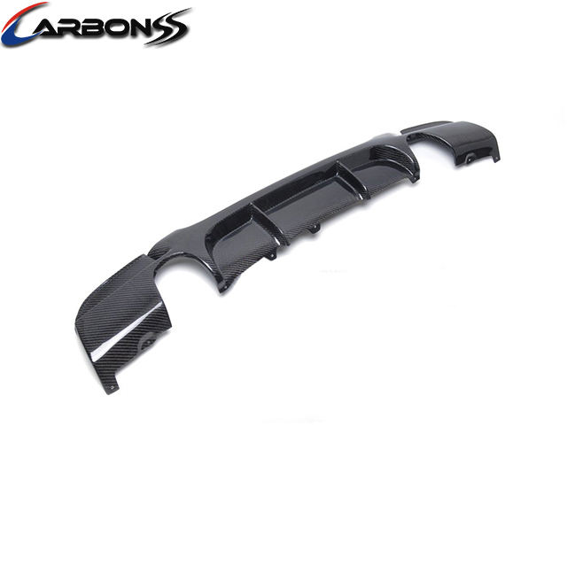 Cho BMW <span class=keywords><strong>E92</strong></span> M Tech Auto Car Carbon Fiber Rear Diffuser Lip 2 Xả Mẹo 2007-2012