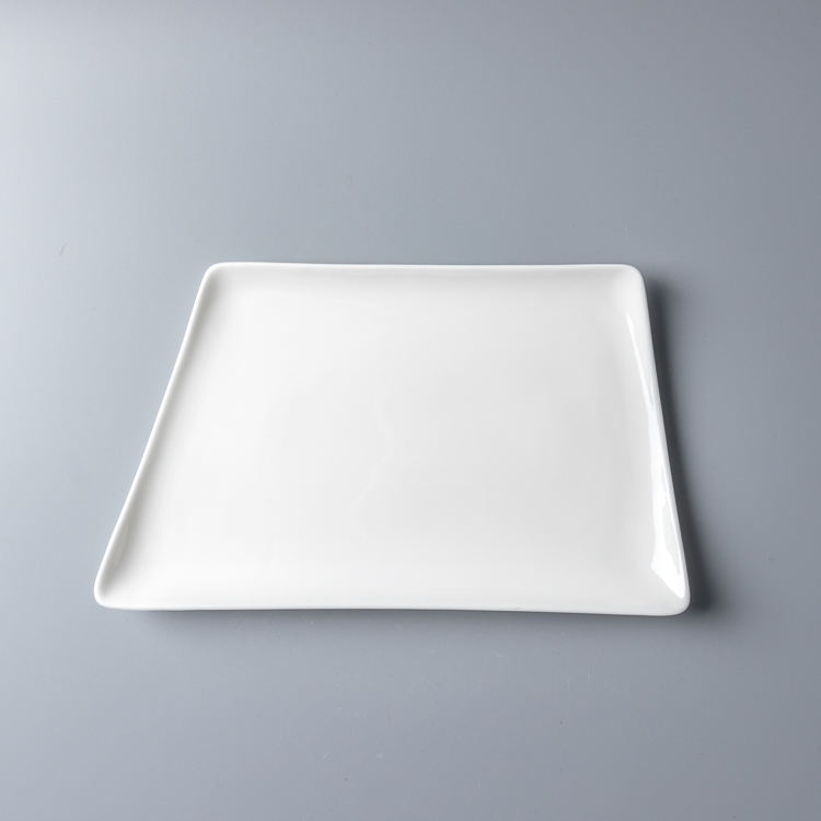 Chaoda 12-18 inch Best price porcelain supplier eco-friendly wedding tableware resistant porcelain dining trapezoidal plate