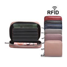 Wholesale Genuine Leather Coin Purse RFID Card Holder