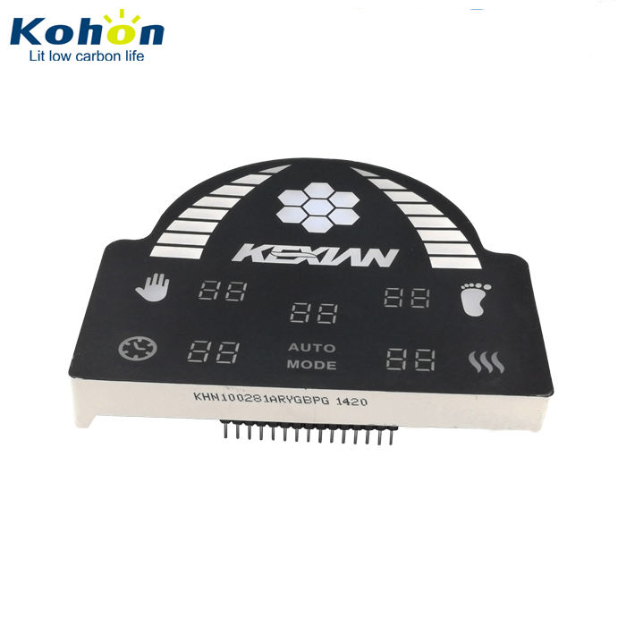 Optoelectronic display icons multi-digit custom 7 segment led display for digital readout