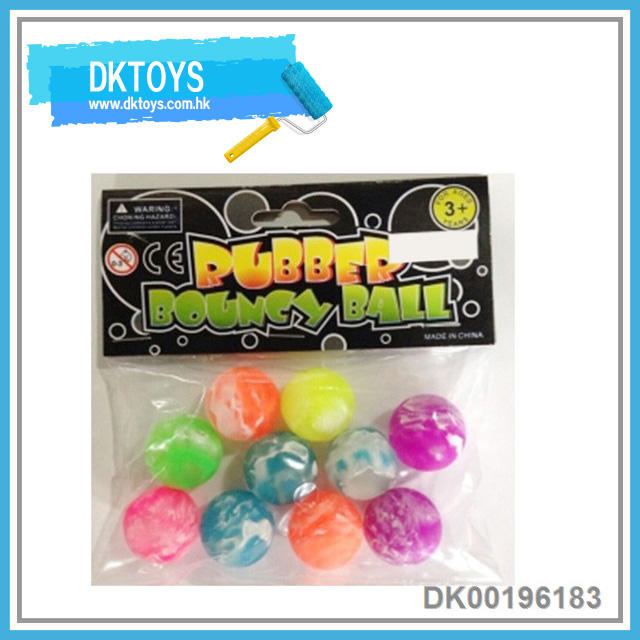 Transparent Colorful Small Round Flexible Bouncing Ball Safe Kids Toys