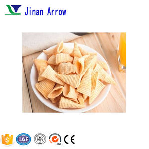 2017 New Automatic Fried Corn Bugle Snacks Production Line Crispy Chips Machine