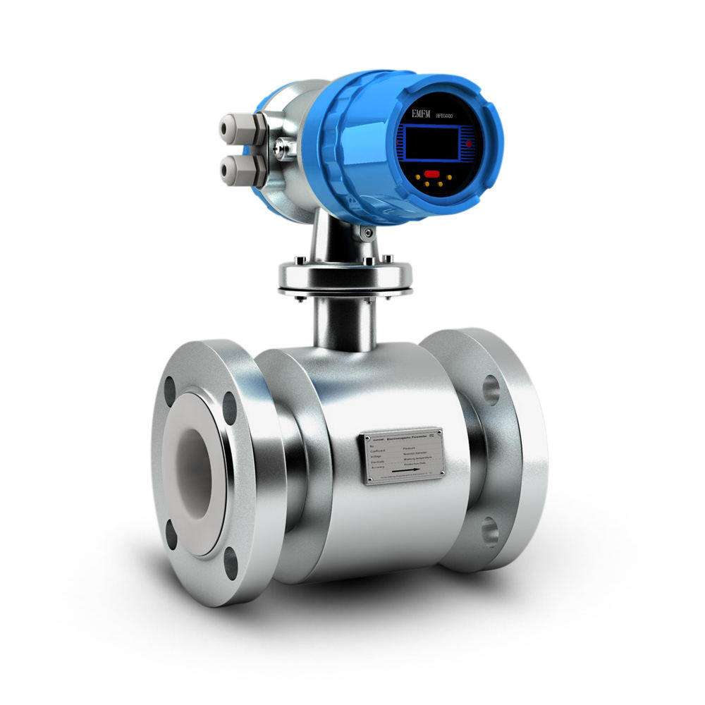 Flange type digital water flow rate meter electronic flow meter water