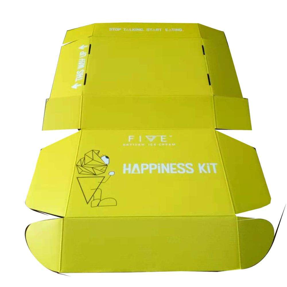 yellow interesting toy packaging recycled postage packing box for children