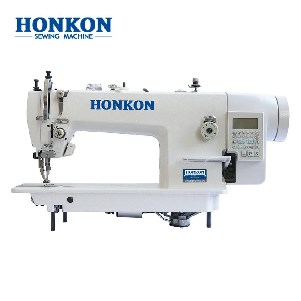 HK-0303-D4 Computerized single needle leather sewing machine industrial lockstitch walking foot